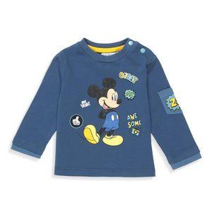 T-SHIRT DISNEY MICKEY T-shirt Fantaisie Bleu Marine Bébé G
