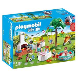 UNIVERS MINIATURE PLAYMOBIL 9272 - City Life - Famille et Barbecue E
