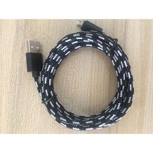 CÂBLE TÉLÉPHONE 2M Tissu Tressé Sync Cable Chargeur Cord Pour Sams