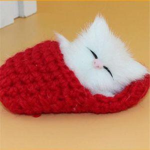 PORTE-CLÉS Porte-clés Chat pantoufles chaton en peluche jouet