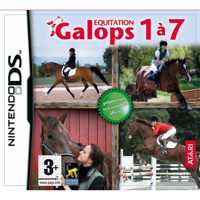 equitation galop 1 a 7 jeu console nintendo ds achat vente jeu ds dsi equitation galop. Black Bedroom Furniture Sets. Home Design Ideas