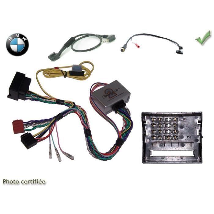 Interface Cde au Volant BMW Serie 1/ 3/ 5 ap04 Fakra avec radars recul Kenwood - ADNAuto - ADN-CAV