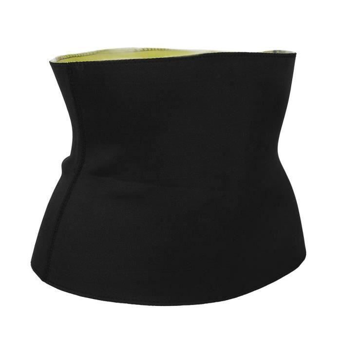 ACCESSOIRE(Néoprène )-Noir -Ceinture abdominale de fièvre de perte de poids de néoprène (sac PP M)