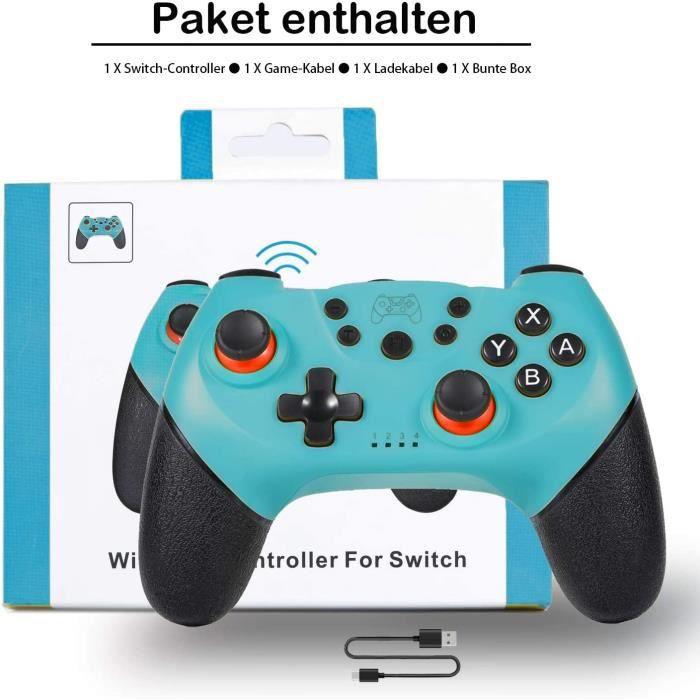 Manettes pour Switch/Switch Lite, Manette sans Fil pour Nintendo Switch, 6 Axes Manette Pro Switch de Jeu avec Bluetooth.(Blue)