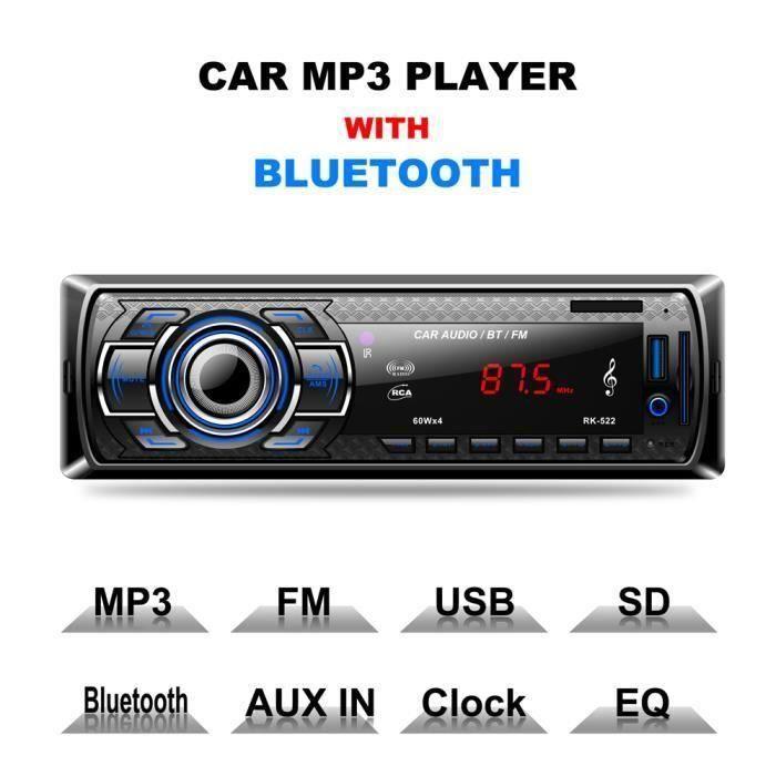 MEKUULA Autoradio Bluetooth, Radio de Voiture stéréo FM Radio, Poste Radio Voiture USB - SD - Lecteur MP3 Récepteur