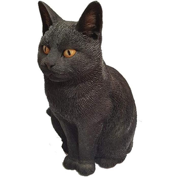 Sculptures et statues de jardin Chat noir assis réaliste de Vivid Arts 33953