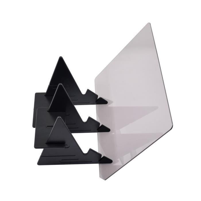 Tablettes Graphiques,CHIPAL pochoir planche traçage dessin traçage croquis LED copie boîte à lumière étanche miroir - Type Black