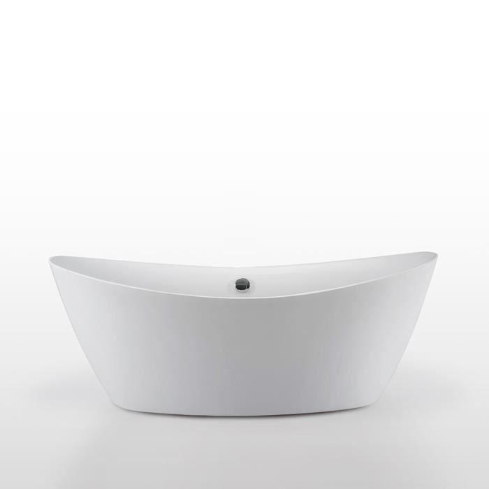 Baignoire ilôt 180 x 80 cm mod. Beverly Acrylique Moderne Design Nouveau