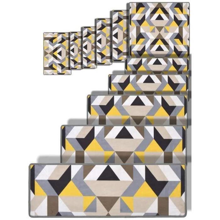 MARCHETTE ESCALIER HSBAIS 5 Ensemble Tapis Escalier, Confort & s&eacutecurité Marchettes d'escalier Antid&eacuterapante457