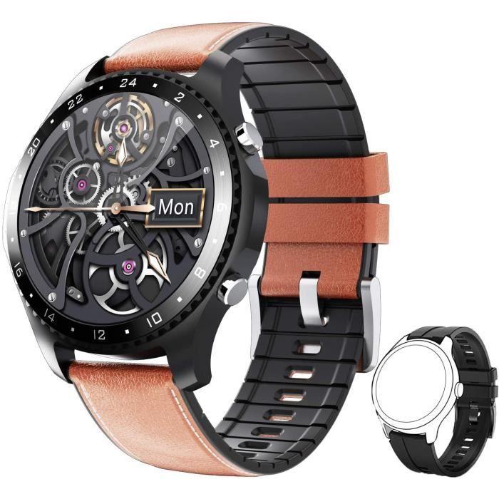 Phipuds Montre Connectée Homme Sport Smartwatch Fitness Tracker d'activité, Support Appel Bluetooth,Montre Intelligent Etanche Brace
