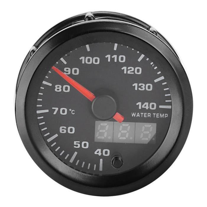 VBESTLIFE compteur de température de l'eau 52mm / 2in 7 couleurs affichage LED 40-140 ℃ jauge de température de l'eau de voiture