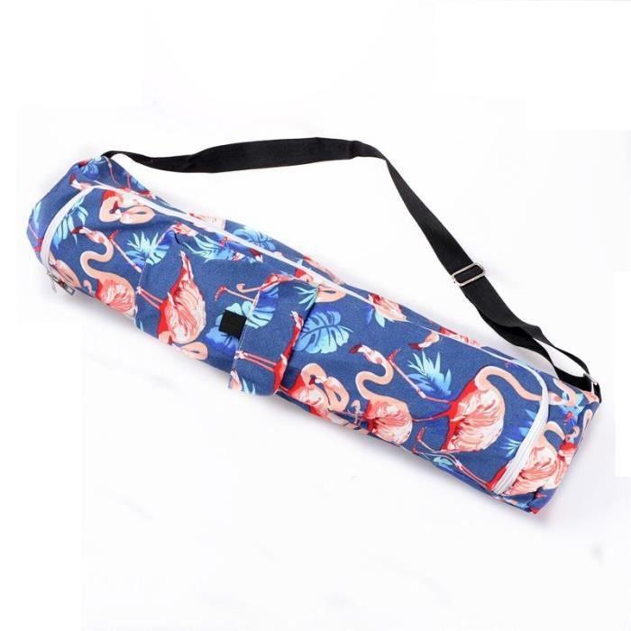 Tapis de sol,Sac de Yoga en toile, tapis de gymnastique, Pilates, sacoche à bandoulière simple pour moins de - Type Bleu profond
