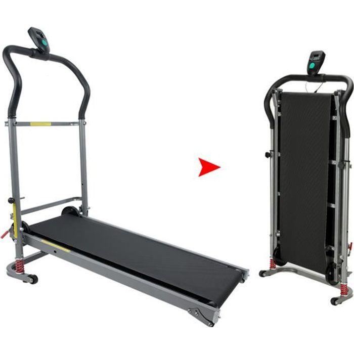 Tapis de Course Pliable Machine de Marche Fitness, Conception Professionnelle d'absorption des Chocs, Silencieux, Idéal pour Maison