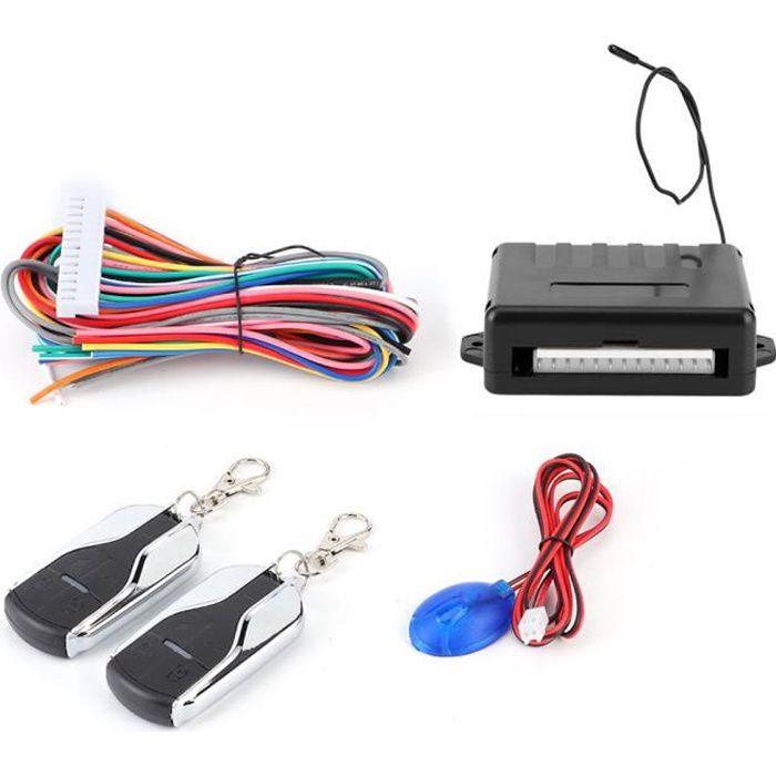 EBTOOLS Kit de télécommande Système d'entrée sans clé universel pour voiture 12V kit de verrouillage centralisé de porte de