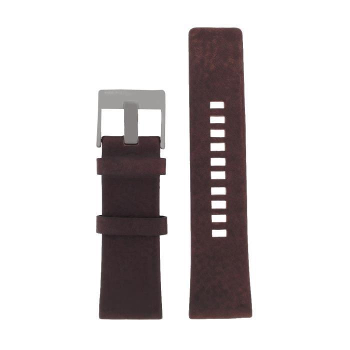 Diesel - Diesel Bracelet de montre LB- DZ4210 Original Bracelet de remplacement DZ 4210 cuir 26 mm Réf 21376