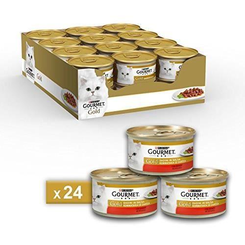 Gourmet Gold Aliment pour Le Chat Dadini en Salsa avec Boeuf, 85 g – Lot de 24 pièces 5117099