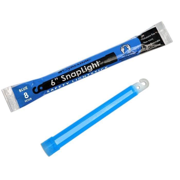 Baton lumineux ChemLight Cyalume Bleu 15cm