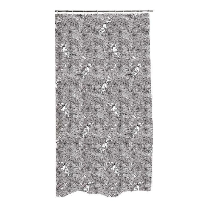 CDAFFAIRES- Rideau de douche polyester 180*h200cm amazonia