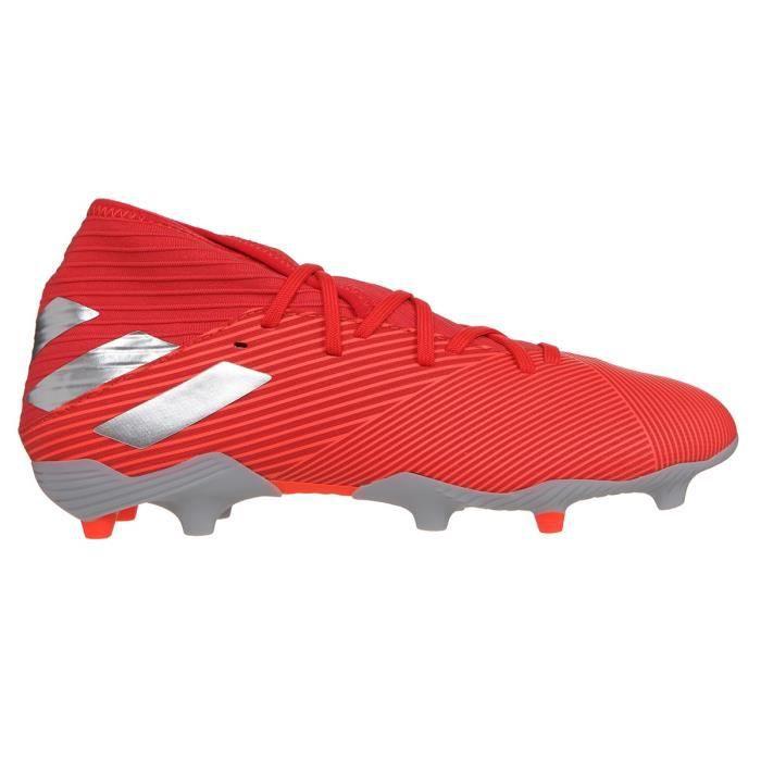 ADIDAS PERFORMANCE Chaussures de Football Nemeziz 19.2 FG - Homme - Rouge/Argent