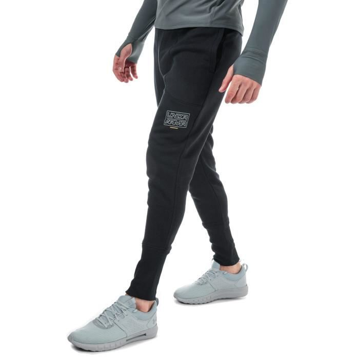 Pantalon De Jogging Under Armour Ua Baseline Fleece Pour Homme En Noir.