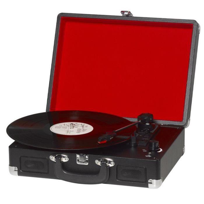 Platine tourne disque vinyle portable