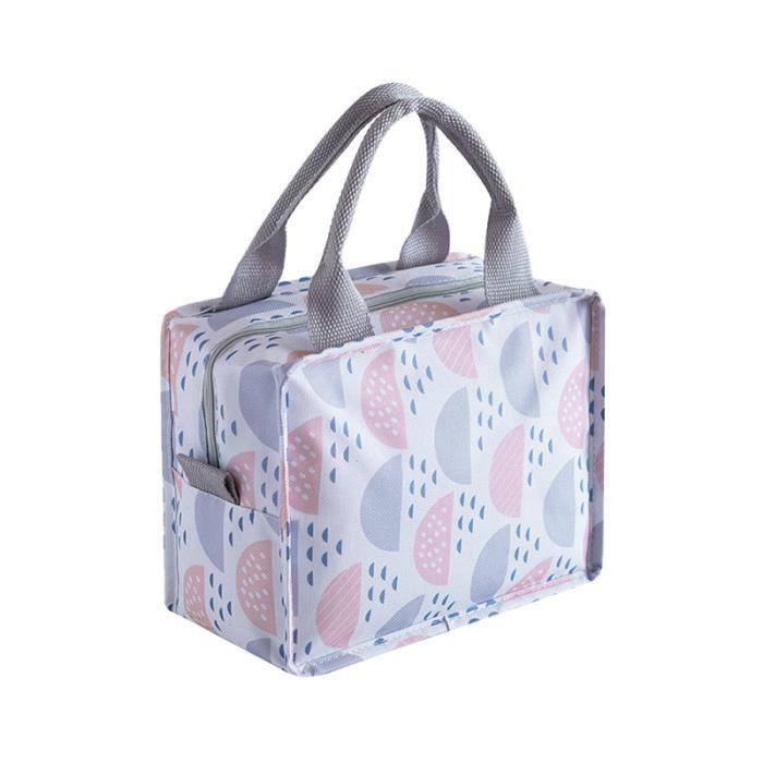 1pc sac à lunch isolant portable de support de conteneur de stockage de déjeuner GLACIERE - SAC ISOTHERME - ACCUMULATEUR DE FROID