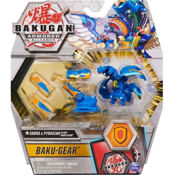 Spin Master 6059944 Bakugan Armored Alliance Ultra Sabra x Pyravian (Fusions-Bakugan) avec Baku-Gear