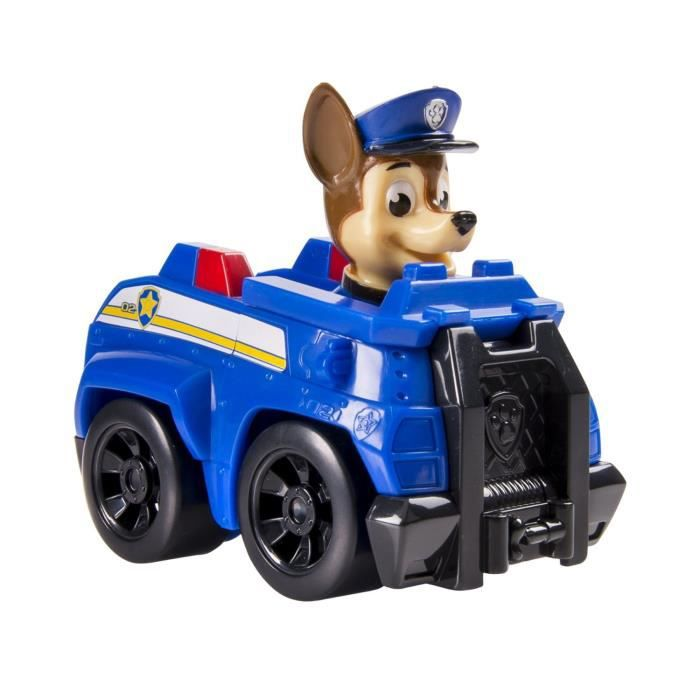 Paw Patrol - 0325005 - Figurine Paw Patrol Rescue Racers - Chase et son Mini Véhicule de Police