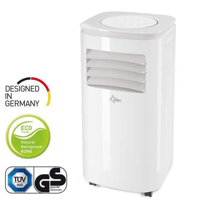 Suntec Climatiseur Local Mobile CoolFixx 2.6 Eco R290 - 9.000 BTU, 2.6 KW Climatiseurs Portable [Classe énergétique A]