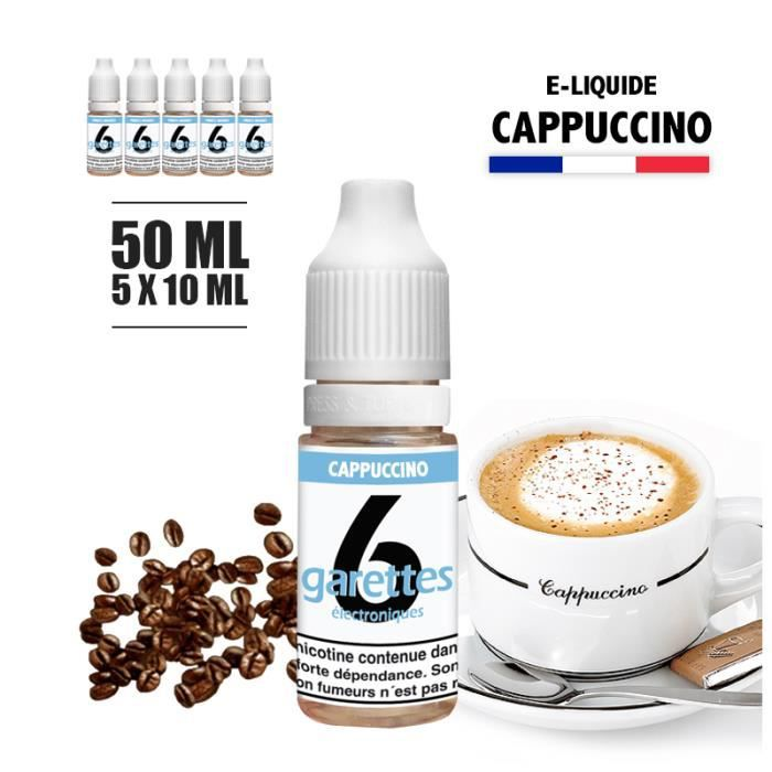 E-liquide 50ML saveur CAPUCCINO avec 3MG de nicotine (e-liquide id : PROD733) - (5x10ML)