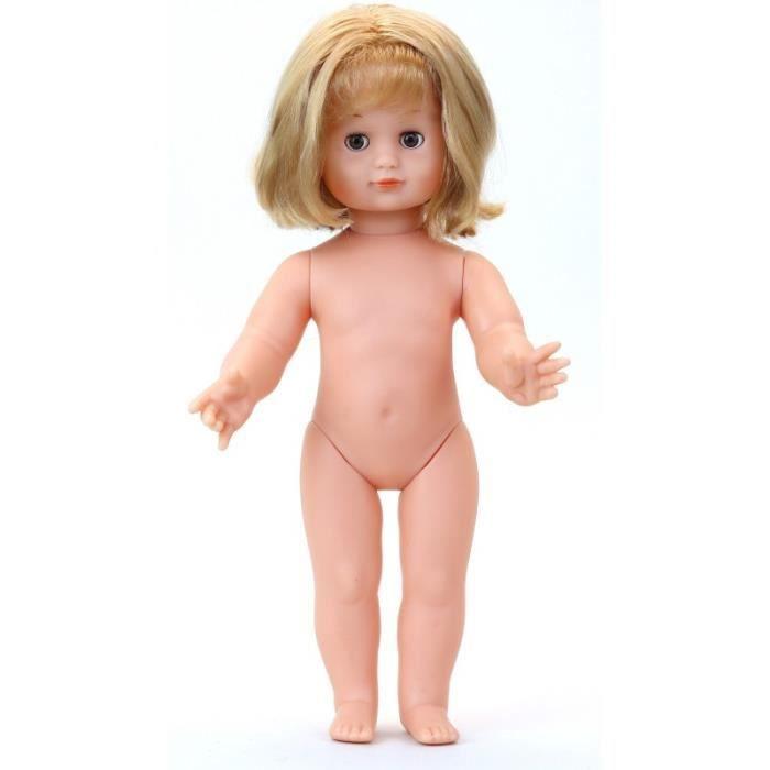 Jouets pour les tout-petits - Émilie 39 cm nue - Coupe carré blond frange - Yeux bruns - Vilac - Jeux et jouets