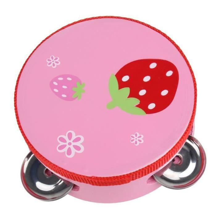 Bébé enfant Kid Clap Handbell tambour tambourin hochets jouet Instrument de musique exercice bras 10CM@M807