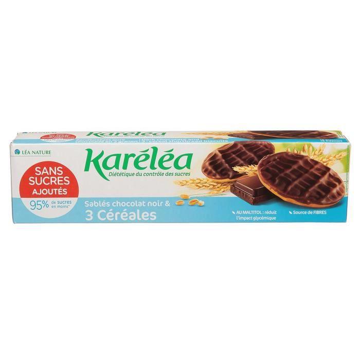 KARELEA Sablés 3 céréales chocolat noir - Sans sucre ajouté - 150 g