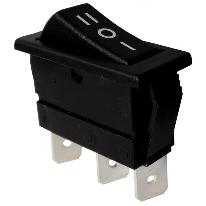 Interrupteur commutateur contacteur bouton /à bascule blanc SPST ON-OFF 6A//250V 20A//12V 2 positions AERZETIX
