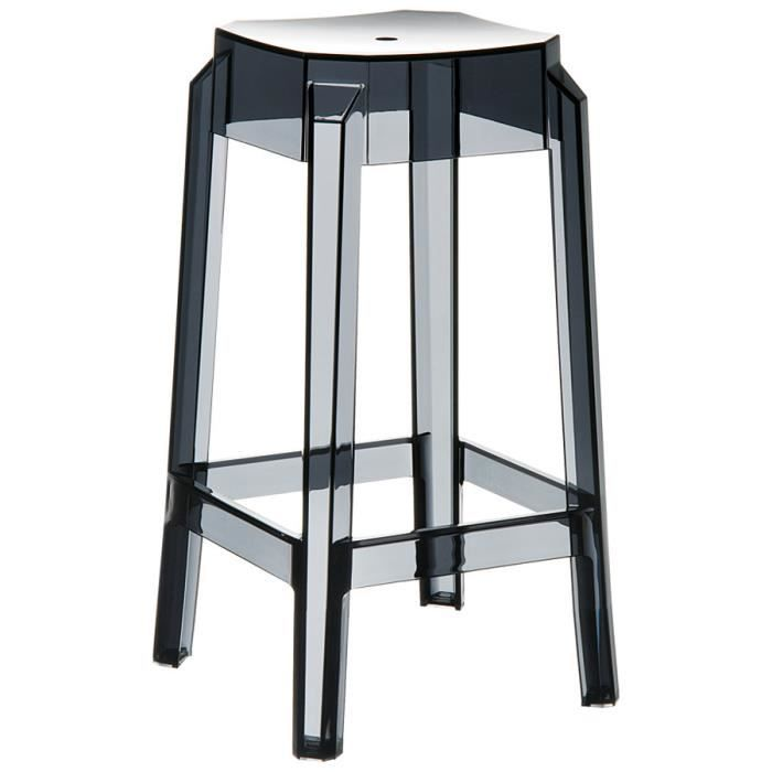 tabouret snack mi hauteur 39 leno mini 39 noir tran achat. Black Bedroom Furniture Sets. Home Design Ideas