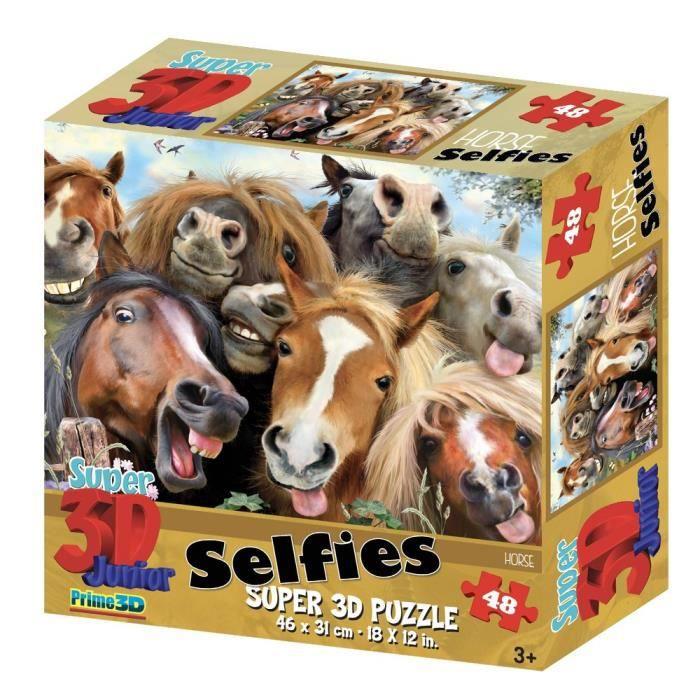 CASSE-TÊTE Casse-Tete Hr10854 48 Piece Super 3D Puzzle-cheval