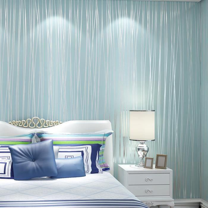 10m papier peint chambre à coucher salon mur moderne tv fond décor à la  maison bleu clair