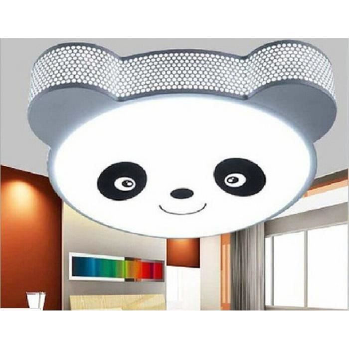 led plafonnier lampe de chambre salon panda gris simple pour enfant garon with plafonnier garcon. Black Bedroom Furniture Sets. Home Design Ideas