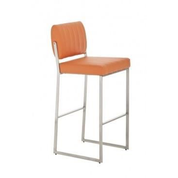Chaise haute de bar mirella orange achat vente for Achat chaise haute