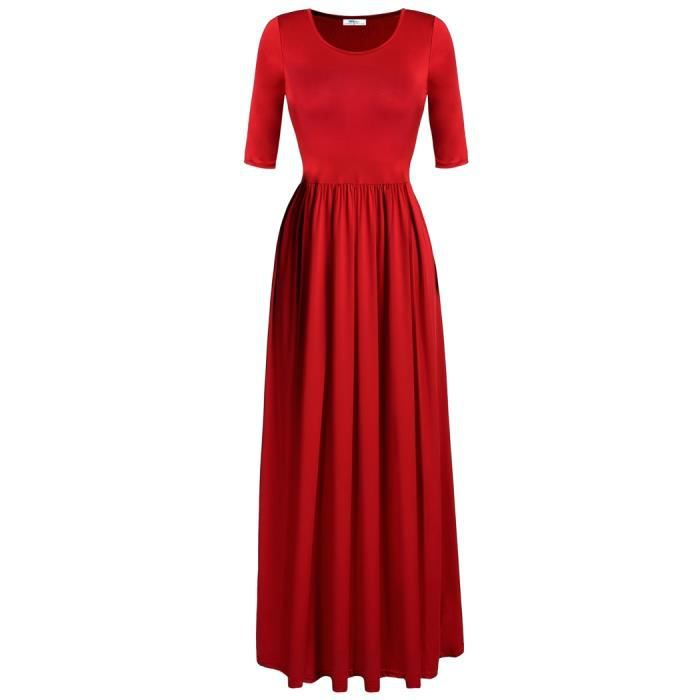 Maxi Long robe VIN ROUGE