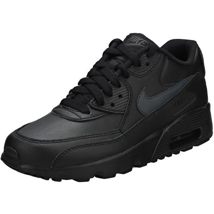 Nike Air Max 90 (gs) Femme Baskets Anthracite Noire ...