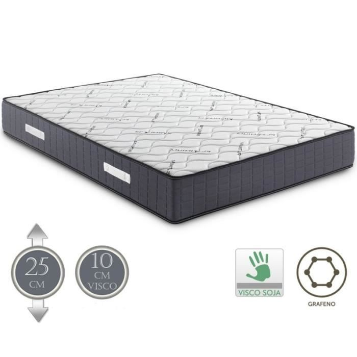matelas visco platinium v10 140x190 cm 25 cm 10 cm mousse m moire de forme achat vente. Black Bedroom Furniture Sets. Home Design Ideas