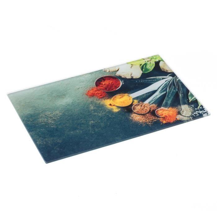 PLANCHE A DÉCOUPER Secret de Gourmet - Planche à découper en verre ép