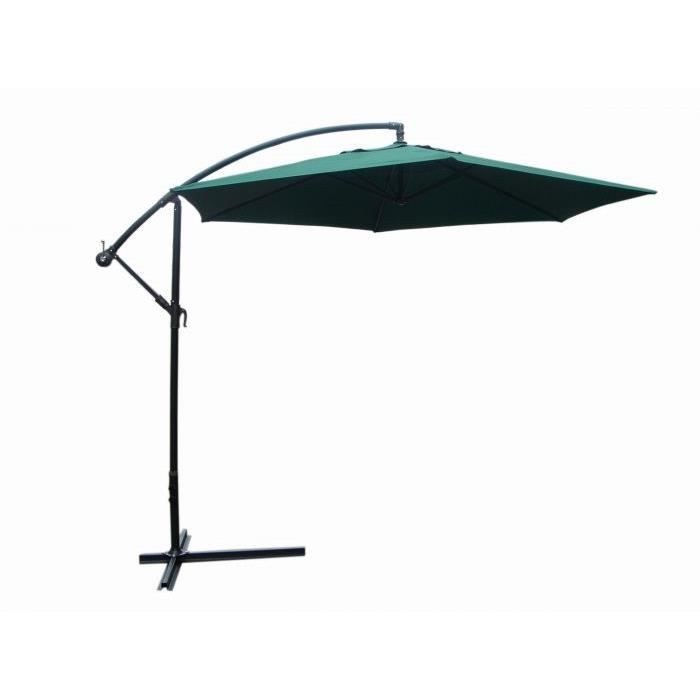 parasol excentre vert achat vente parasol ombrage parasol excentre vert cdiscount. Black Bedroom Furniture Sets. Home Design Ideas