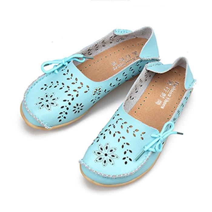 Leather Moccasins Slippers Taille on Flat 1 Loafers CDKAL 39 Casual Shoes Indoor Driving 2 Slip AArwqx