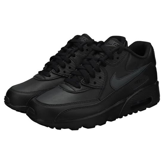 Nike Air Max 90 (gs) Femme Baskets Anthracite Noire