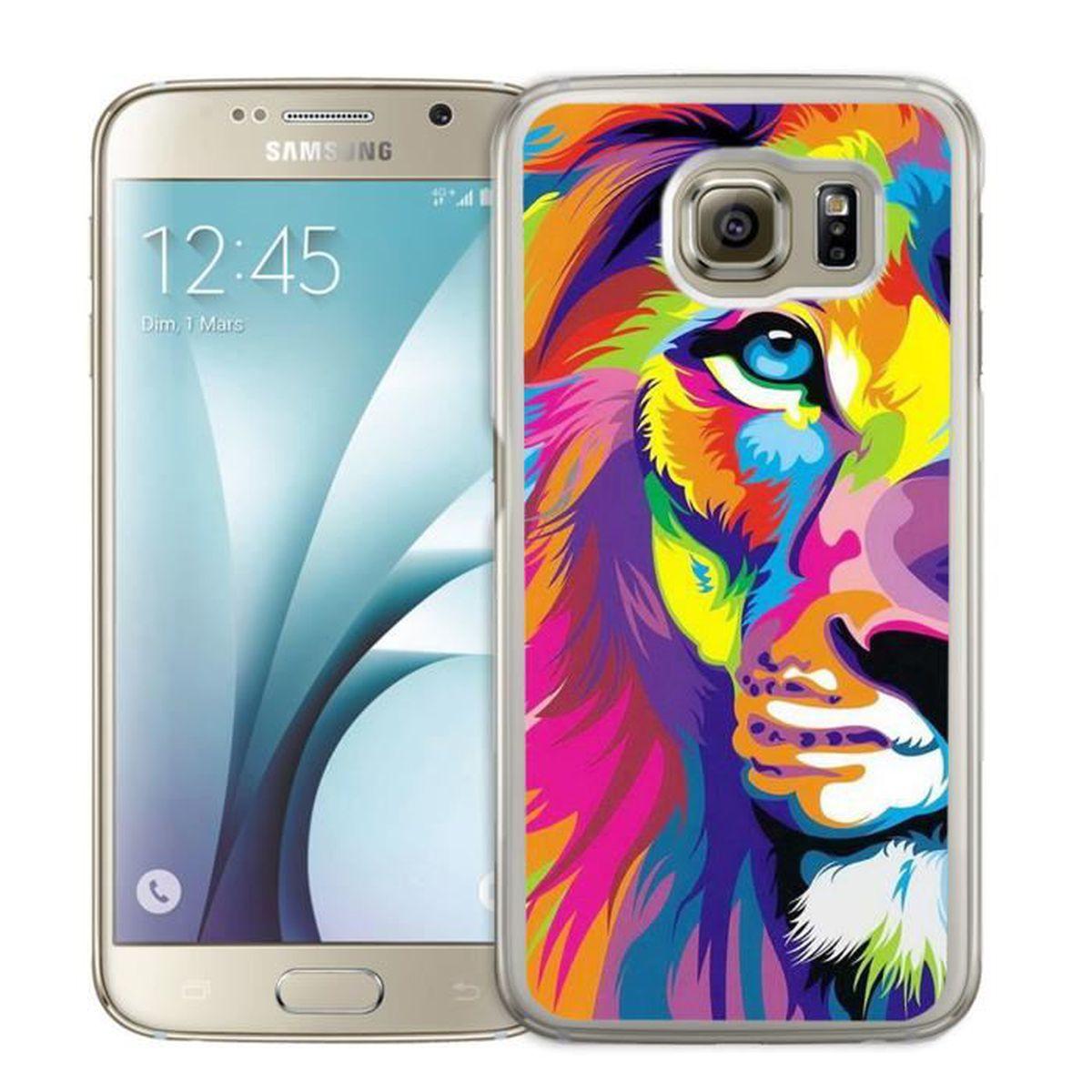 Coque Samsung Galaxy S5 Mini : Lion Multicolore