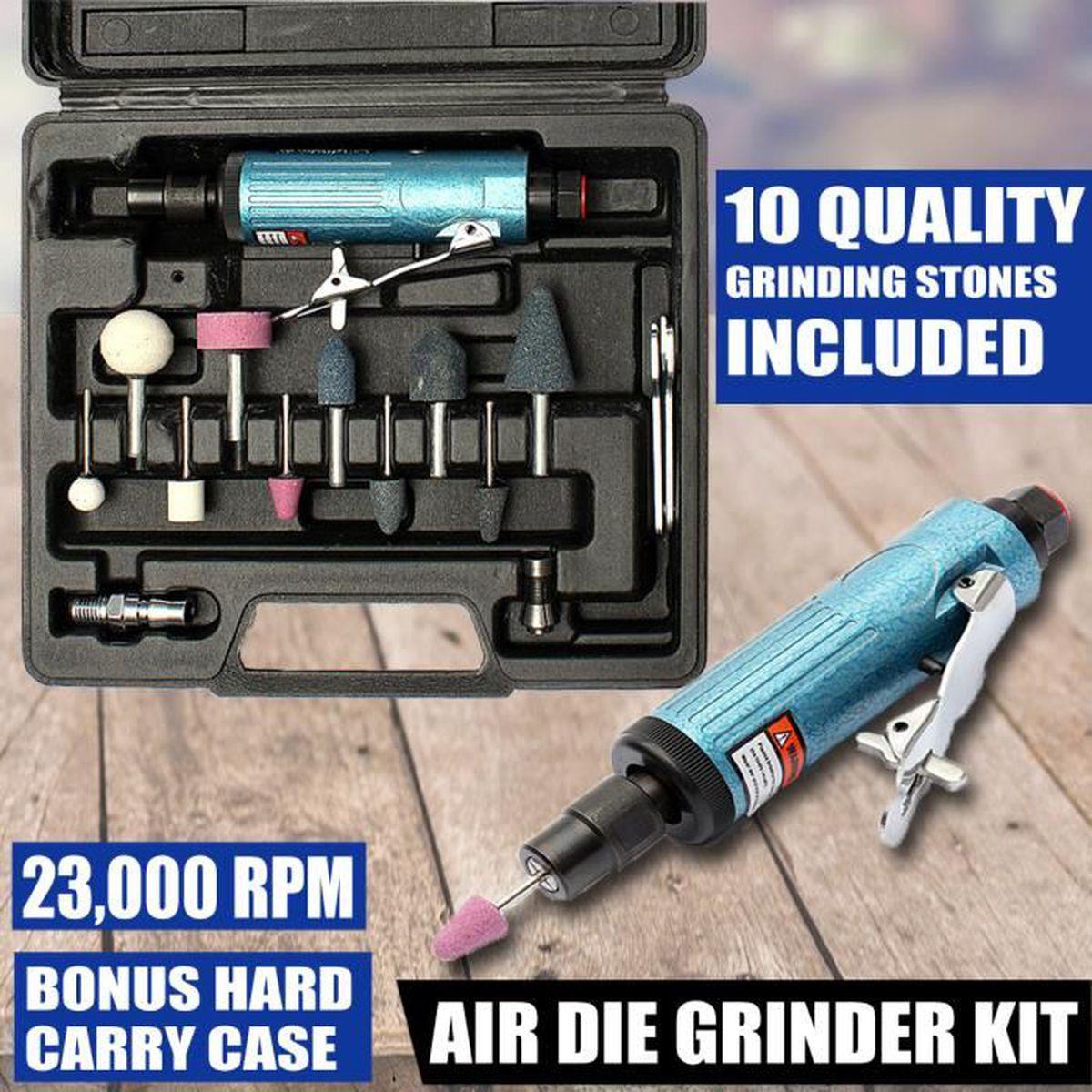 Haute Vitesse 90° Pneumatique Grincement Machine Air Meuleuse Outils Pièces Kit