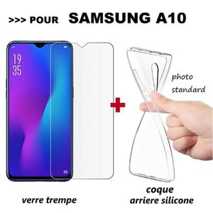 coque a10 samsung silicone rouge