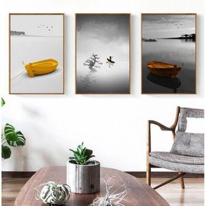 Mode Sans Cadre Modulaire Peintures Murales 3 Panneaux